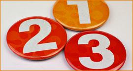nummerierte bunte buttons s Einzelindividualisierung