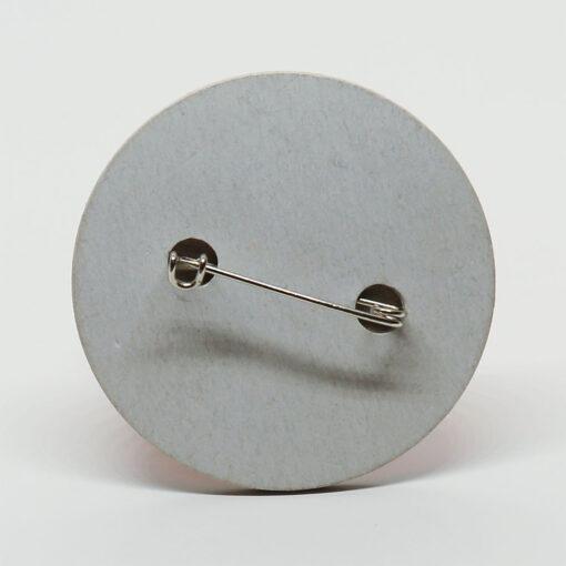 Ökobutton aus Pappe mit Nadel