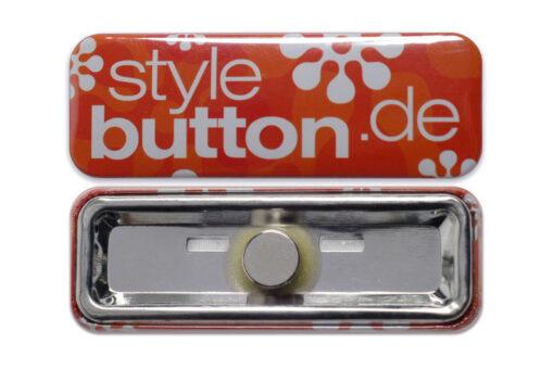 rechteckiger Button 70 x 25 mm Supermagnet