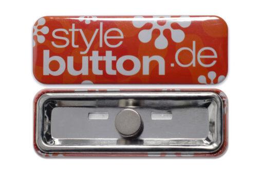 rechteckiger Button 70x25 mm Supermagnet abnehmbar