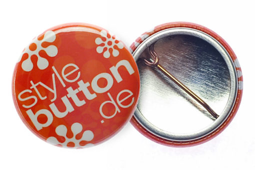 Button 25 mm mit Bogennadel