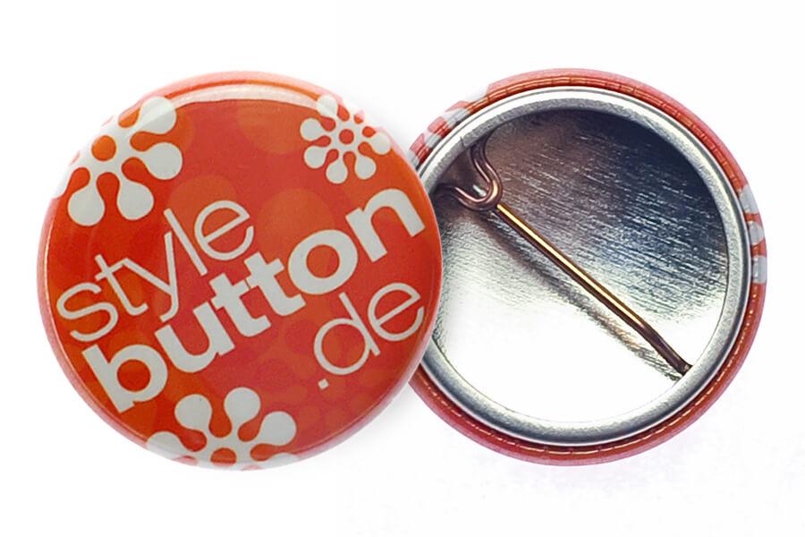 Button 25 mm mit Bogennadel