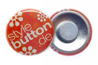 Button 25 mm mit abnehmbarem Supermagnet
