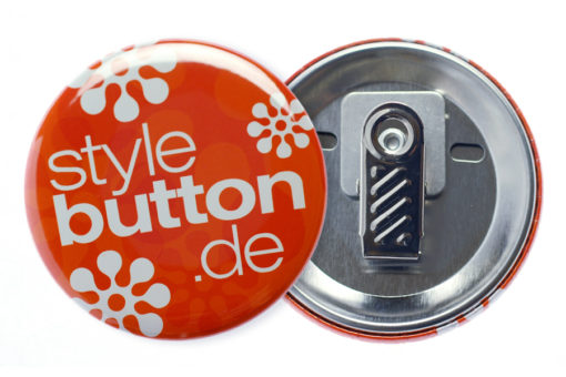 Button 56 mm mit Krokoclip