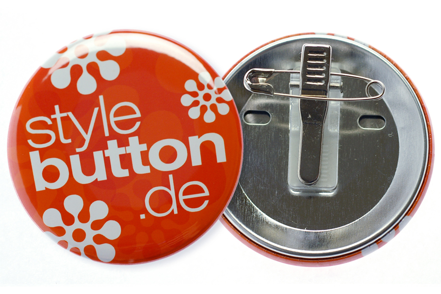 56 mm Button mit Kombiclip