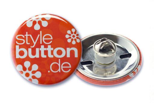 37 mm button butterfly m Button 37 mm mit Butterflyverschluss / Schmetterlingsverschluss