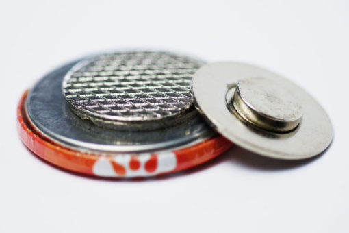 textilmagnet 32 mm Buttons 32 mm mit Kleidungsmagnet / Textilmagnet