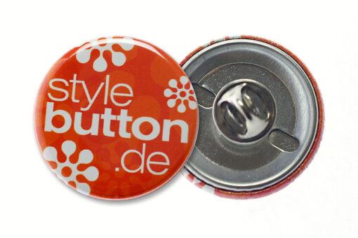 32 mm button butterfly verschluss m Buttons 32 mm mit Butterflyverschluss / Schmetterlingsverschluss