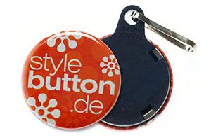 32 mm button schluesselanhaenger Buttons 32 mm mit Schlüsselanhänger