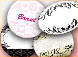 Namensschilder / Hochzeit-Buttons