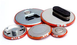Magnetbuttons in verschiedenen Größen