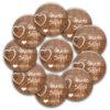 10 Stück individualisierte Hochzeit-Anstecker Wooden Heart