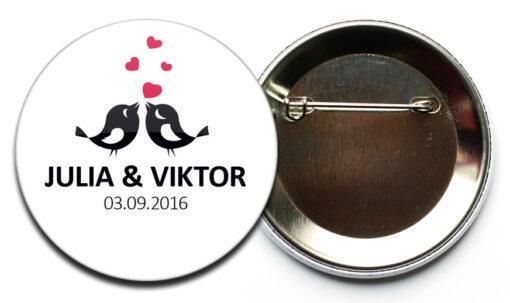 Hochzeit Button 48 voegelchen sicherheits nadel Hochzeit-Button Modell #48 Vögelchen