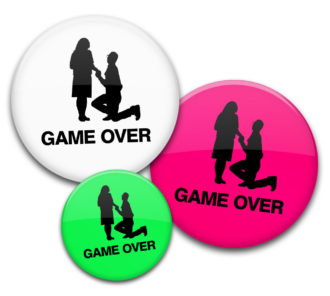 Game Over Buttons für JGA unisex