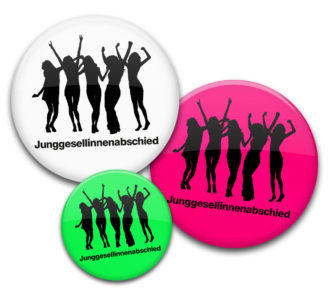 Party 1 JGA Buttons für Frauen