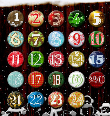 Adventskalenderbuttons Set 1