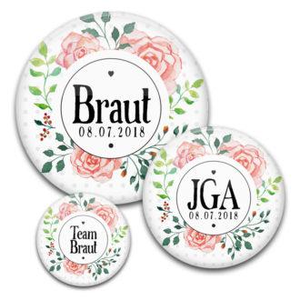 Motiv #30 JGA für Frauen in verschiedenen Größen mit Blumenkranz in Aquarell
