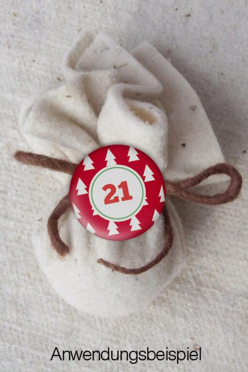 XMAS2 Kalender Button an Säckchen