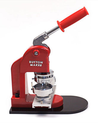 rote Buttonmaschine von stylebutton für 56 mm Ansteckbuttons
