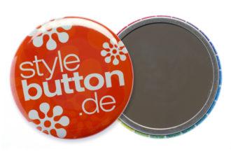 56 mm Button mit Spiegel-Rückseite