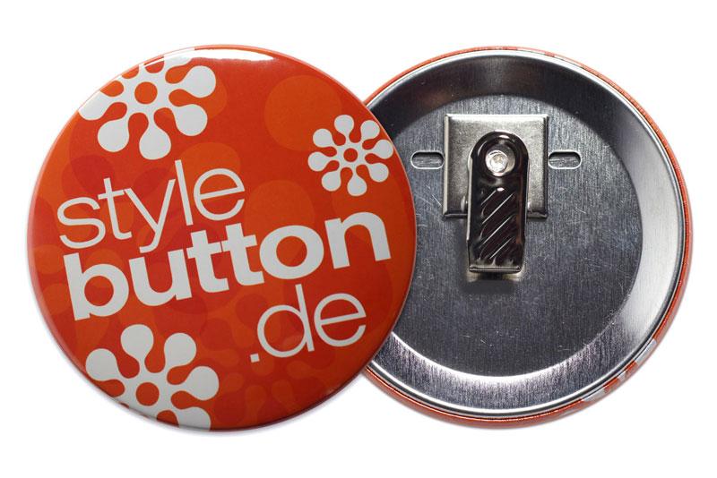 76 mm Button mit Krokoclip