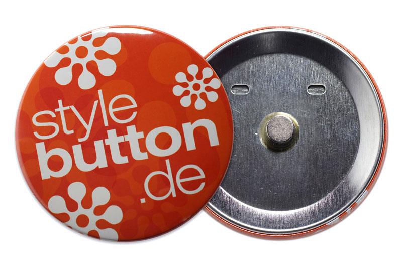 76 mm Supermagnet Button (fest eingeklebt)