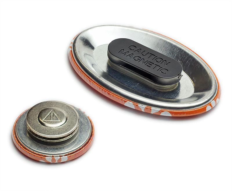 kleine und große Magnethalterung für Buttons
