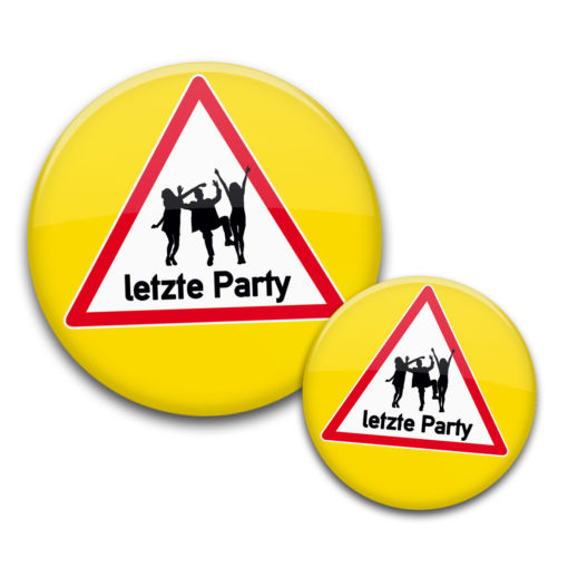 JGA letzte Party Buttons