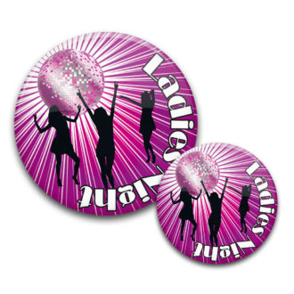 JGA Buttons Ladies Night 2 Discokugel lila