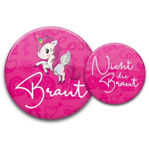 Einhorn Buttons JGA pink für Frauen kaufen