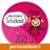 individualisierter Button Schule Schulkind Mädchen Einschulung