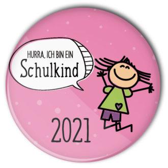 Schulanfang Maedchen Button