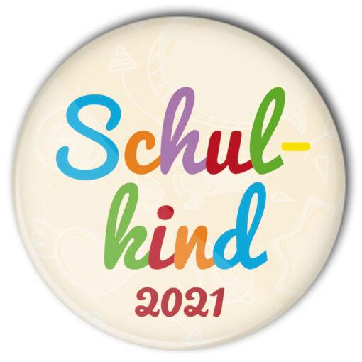 bunter Schulkind Button 2021 von stylebutton