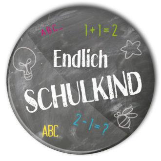 Schulkind Button #3 endlich Schulkind Schultafel