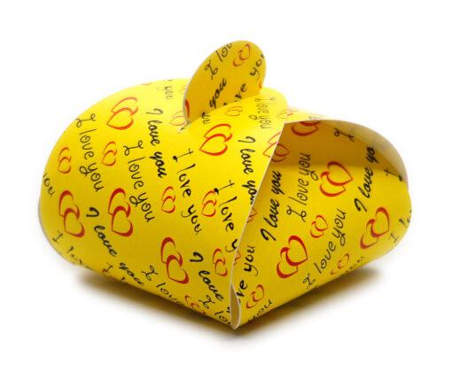 Faltschachtel Valentin 6 mit Schriftzug I love you und Herzen