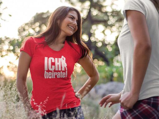 Ich heirate Shirt für Junggesellinnenabschied Frauen in rot