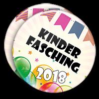 bunte Buttons zum Kinderfasching