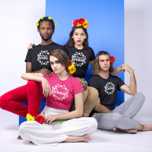 Lustig geschmückte JGA-Truppe mit T-Shirts #73 von stylebutton
