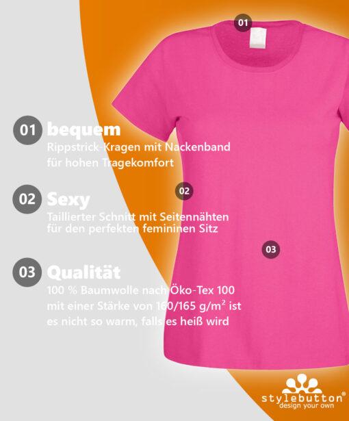 Qualitaet JGA Shirts finde Deine Größe: Muster-Shirt
