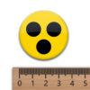Blindenabzeichen - 3 shcwarze Punkte auf gelbem Untergrund 37 mm Durchmesser