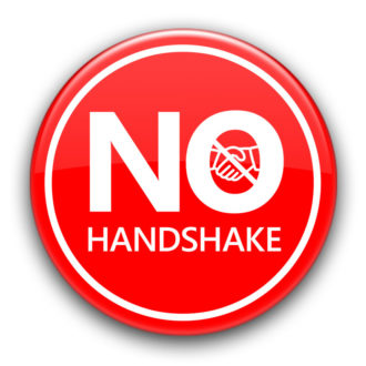 No Handshake Button
