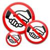 No-Handshake-Buttons in 3 Größen