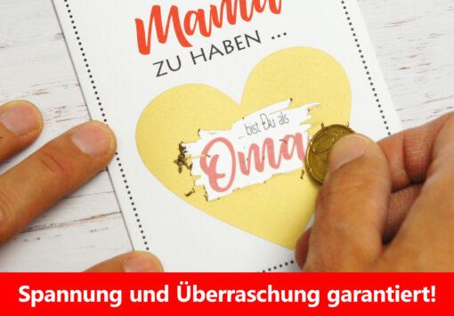 Rubbelkarte Schwangerschaft für die Mutter zum freikratzen.