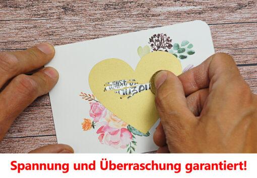 Spannung und Überraschung mit der Rubbelkarte für Deine zukünftige Trauzeugin