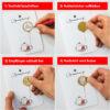 RB UeN4 Anleitung DIY-Rubbelkarte Bär mit Luftballon