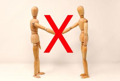 kein Händeschütteln ist ein wirksamer Schutz vor Infektionen