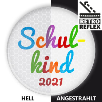reflektierender Schulkind Button