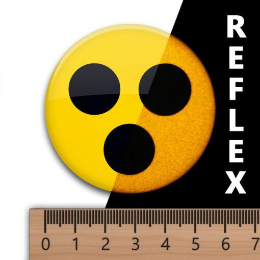 reflex Blindenabzeichen retro-reflektierend 56 mm asymmetrische Befestigung