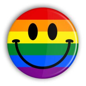 LGBT Regenbogen Smiley