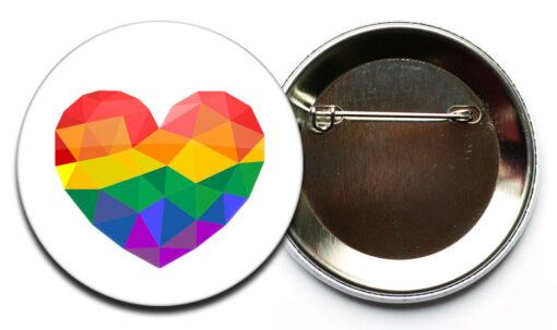 LGBT herz button sicherheitsnadel Regenbogen Herz Button